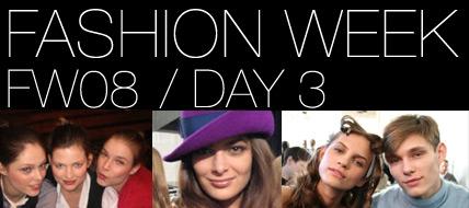 Fashion Week Backstage Day 3