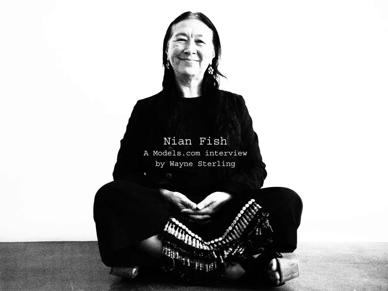 Nian Fish - A Models.com interview by Wayne Sterling, portrait by Stephan Moskovic