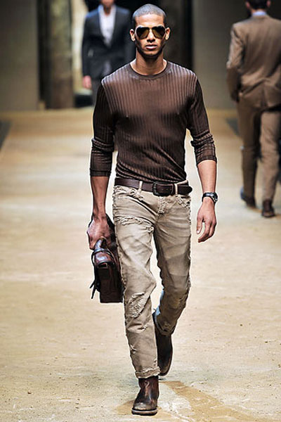 Nate Gill at D&G Spring/Summer 2010. Pic Style.com