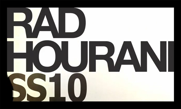 Rad Hourani SS/10 Video