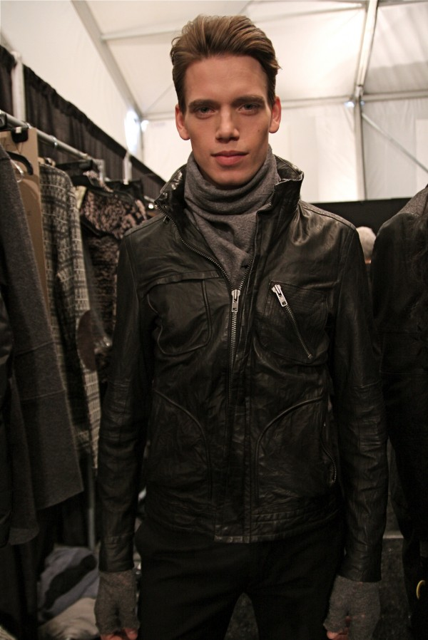 Marc Cox backstage at Yigal Azrouel