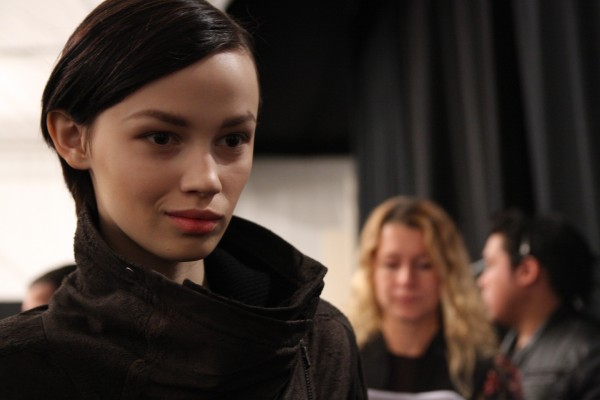 Ranya backstage at Yigal Azrouel