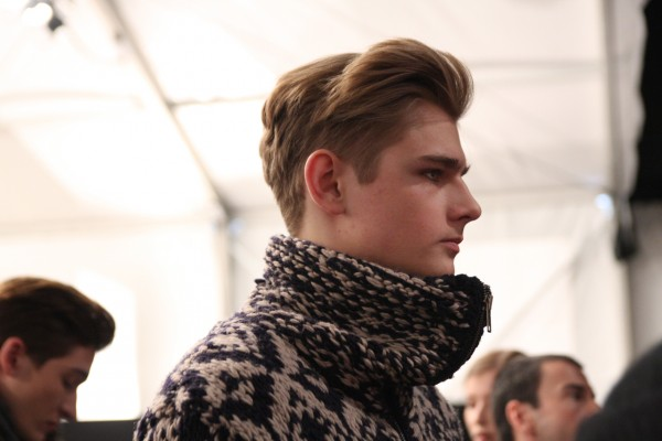 Charlie W. backstage at Yigal Azrouel