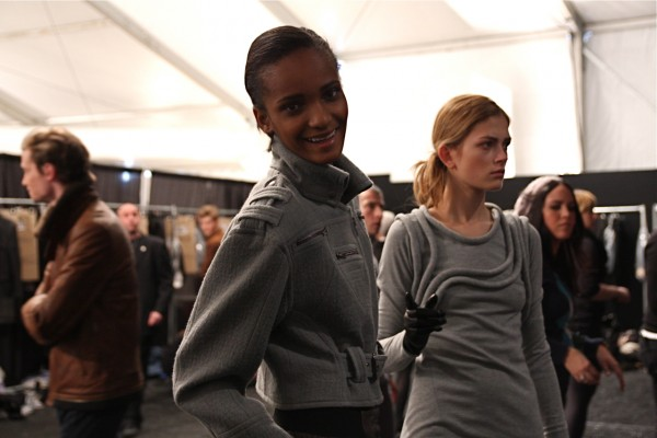 Rose Cordero & Marlena S. backstage at Yigal Azrouel