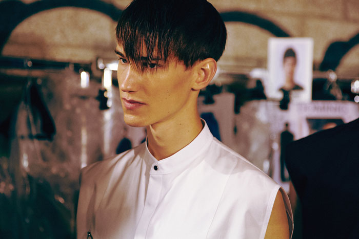 phillip lim, menswear, mens fashion, taboo, phillip lim menswear ss 14, 2014, spring summer, paris, colour, hair, accessories, mens accessories, hairdo, staple the label, lesimplyclassy, male models, models, runway, backstage, exclusive