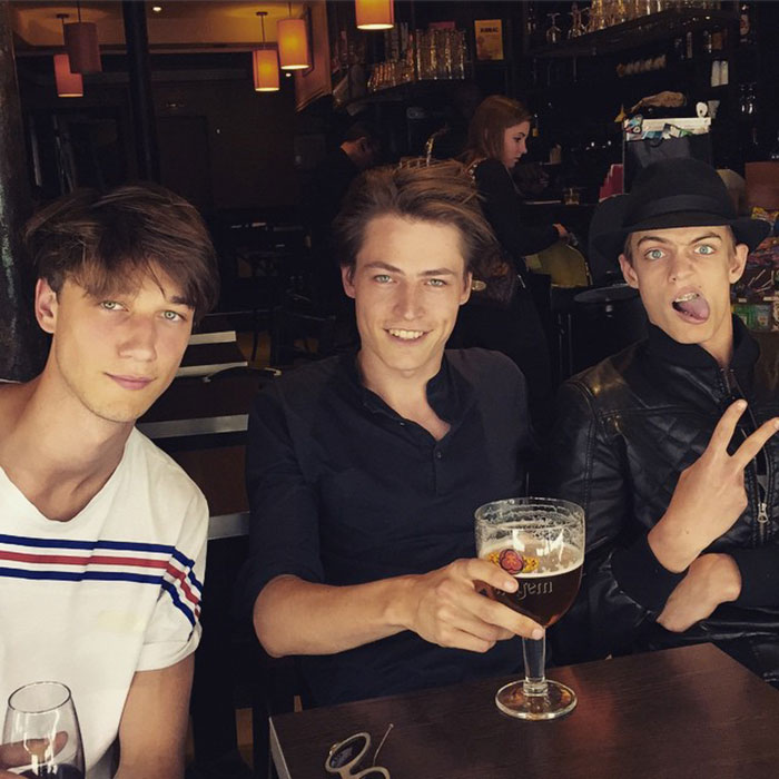 Harvey-James,-Jonas-Kloch,-and-Charlie-James-on-a-break-between-castings