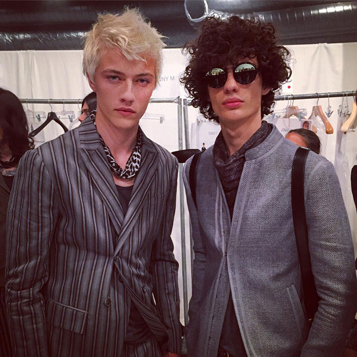 Lucky-Blue-Smith-and-Piero-Mendez-at-John-Varvatos