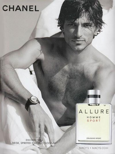 Andres Velencoso Segura - Ph: Patrick Demarchelier for Chanel Allure Homme Sport