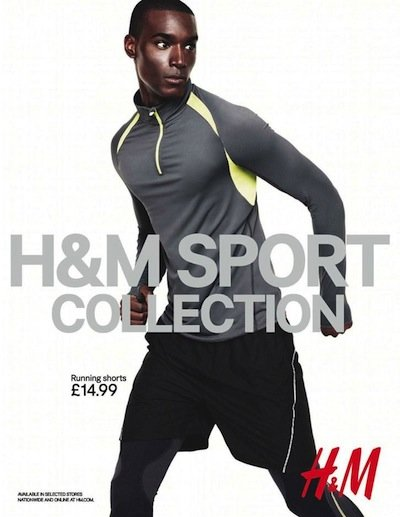 Corey Baptiste - Ph: Andreas Sjodin for H&M Sport Collection F/W 12
