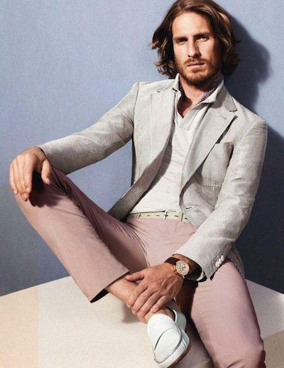 Ryan Burns - Ph: David Sims for Ermenegildo Zegna S/S 12