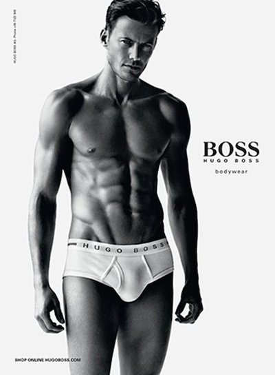 Alex Lundqvist - Ph: Alasdair McLellan for Hugo Boss Underwear F/W 14