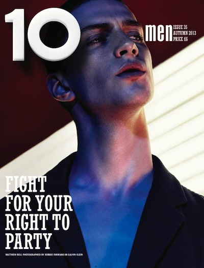 Matthew Bell - Ph: Robbie Fimmano for 10 Men Fall 2013 Cover