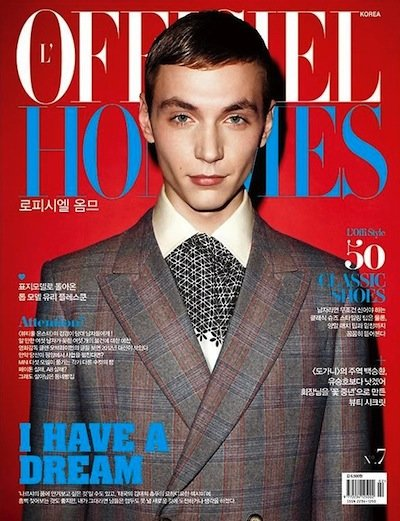 Yuri Pleskun - Ph: Jens Ingvarsson for L'Officiel Hommes Korea Feb 2012