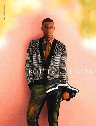 David Agbodji - Ph: Jack Pierson for Bottega Veneta S/S 12