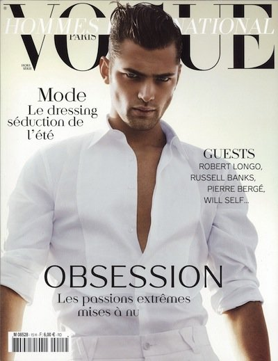 Sean O'Pry - Photo: David Sims for Vogue Hommes International S/S 12