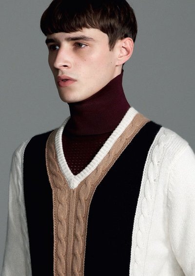 Adrien Sahores - PH: Roe Ethridge for Pringle of Scotland F/W 14