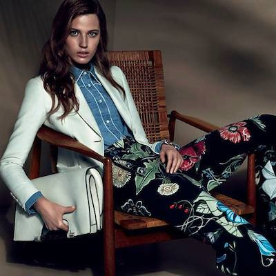 Julia Banas - Ph: Mert Alas and Marcus Piggot for Gucci Resort 2015