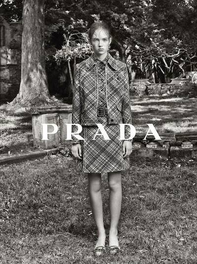 Adrienne Jüliger - Ph: Steven Meisel for Prada Resort 2015