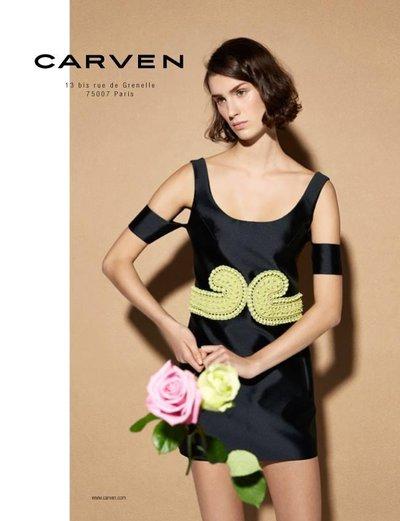 Marte Mei van Haaster - Carven S/S 14 by Viviane Sassen