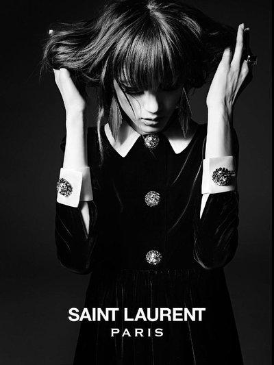 Valery Kaufman - Saint Laurent F/W 2014 Campaign by Hedi Slimane