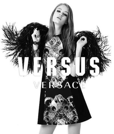 Hollie May Saker - Ph: Ben Toms for Versus Versace F/W 14