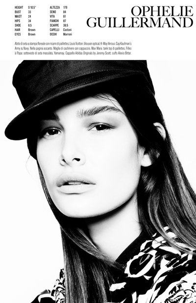Ophelie Guillermand - Ph. Steven Meisel for Vogue Italia