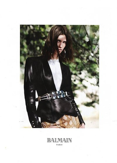 Manon Leloup - Ph: David Sims for Balmain SS13