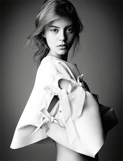 Ondria Hardin - Ph: Patrick Demarchelier for Interview