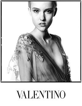 Harleth Kuusik - Valentino F/W 14 by David Bailey