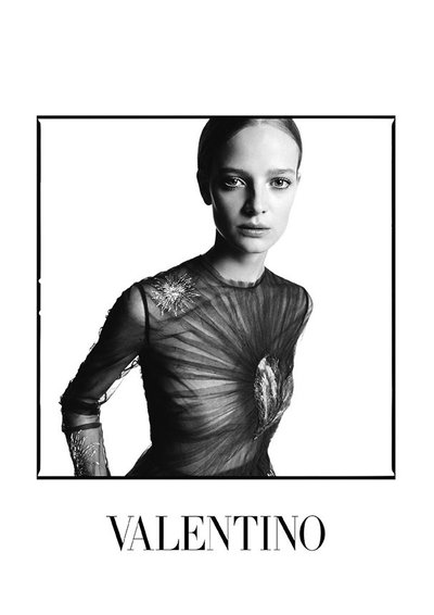 Ine Neefs - Ph. David Bailey for Valentino