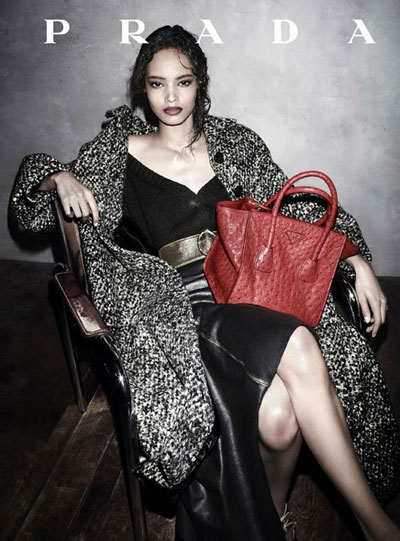 Malaika Firth - PH: Steven Meisel for Prada FW 13