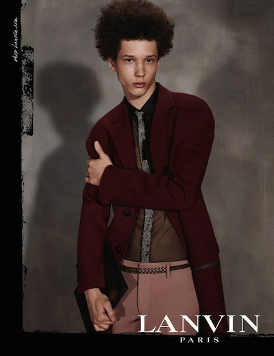 Abiah Hostvedt - Ph: Steven Meisel for Lanvin F/W 13 Men's Campaign