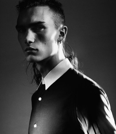 Gryphon O'Shea - Ph: Benjamin Lennox for Barney's Helmut Lang Lookbook Spring 2014