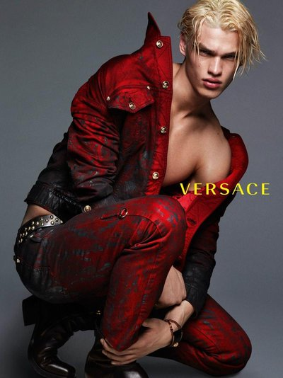 Filip Hrivnak - Ph: Mert and Marcus for Versace F/W 14