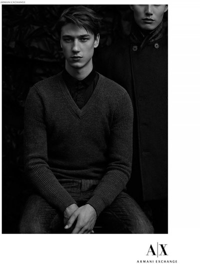 Harvey James - Ph: Laurence Ellis for Armani Exchange November 2014 Lookbook