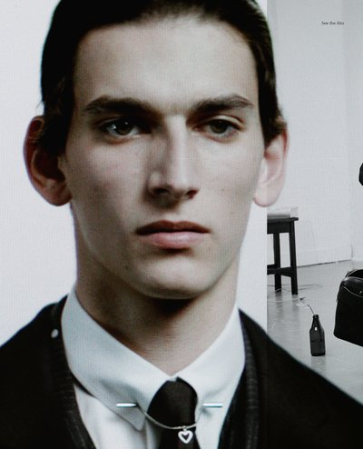 Thibaud Charon - Ph: Willy Vanderperre for Dior Homme Fall 2014