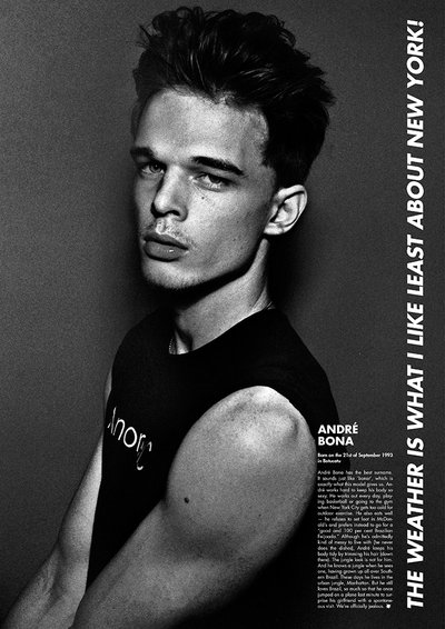 Andre Bona - Ph: Steven Klein for Electric Youth Magazine S/S 14