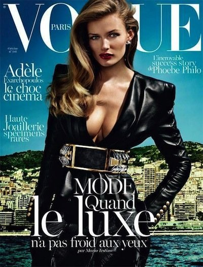 Edita Vilkeviciute - Photo: Mario Testino for Vogue Paris October 2013