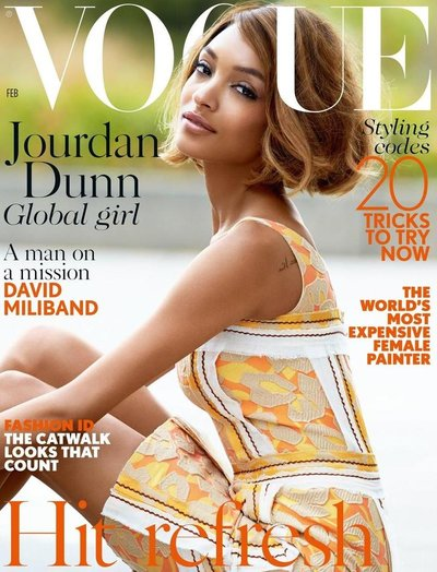 Jourdan Dunn - Ph: Patrick Demarchelier for British Vogue Feb 2015