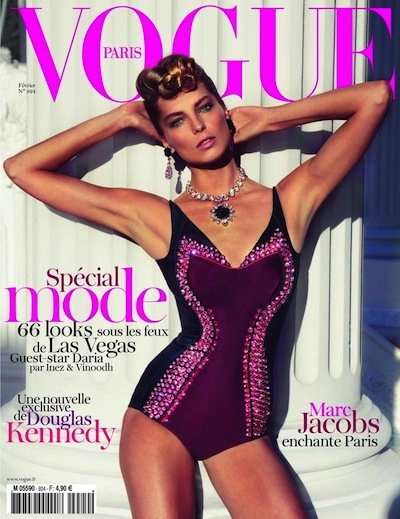 Daria Werbowy - Photo: Inez and Vinoodh for Vogue Paris Feb 12