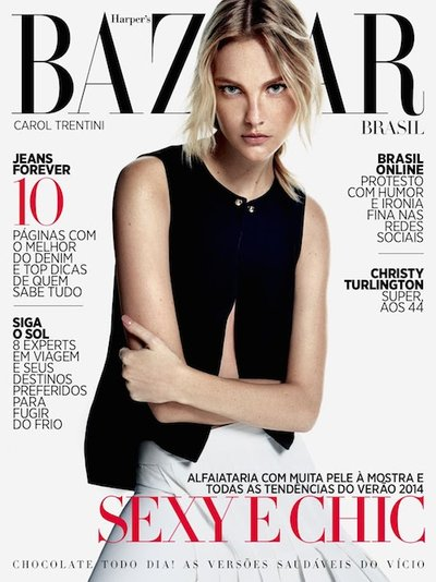 Caroline Trentini - Ph: Fabio Bartelt for Harper's Bazaar Brasil August 2013 Cover