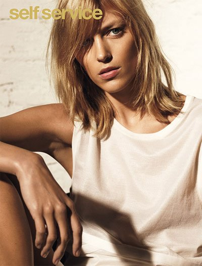 Anja Rubik - Photo: Collier Schorr for Self-Service SS13