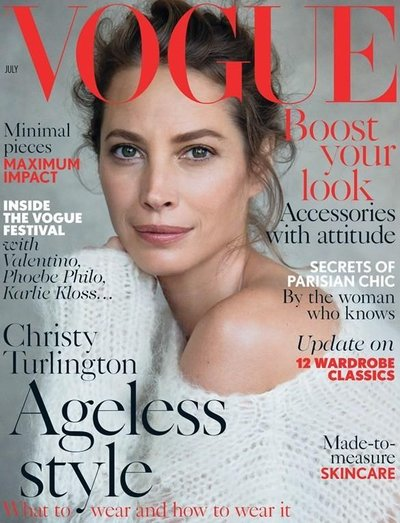 Christy Turlington - British Vogue July 2014 Cover by Patrick Demarchelier