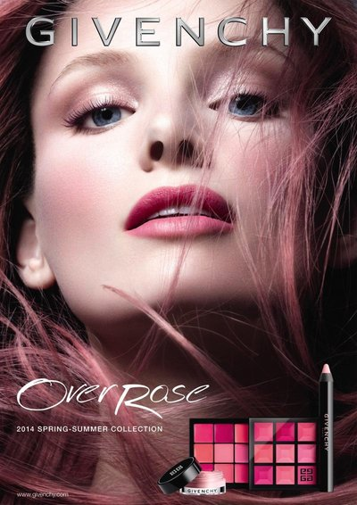 Ava Smith - Givenchy Over Rose Cosmetics Collection 2014 by Daniel Jackson