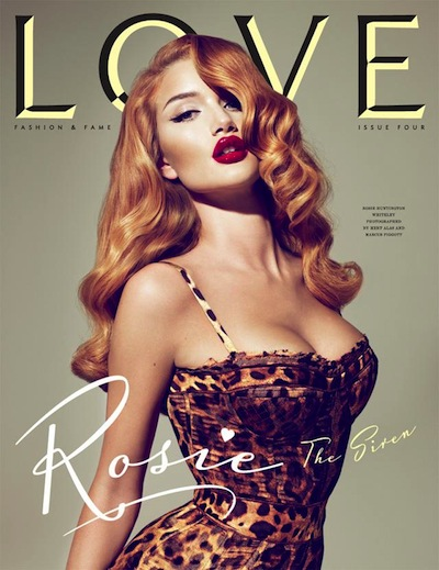 Rosie Huntington Whiteley - Ph: Mert Alas and Marcus Piggot for Love Magazine F/W 10