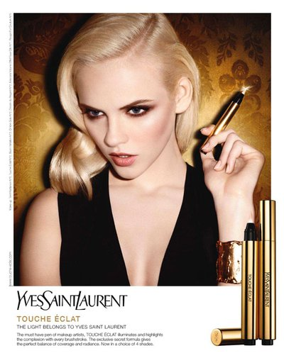 Ginta Lapina - Ph. Terry Richardson for YSL Beaute