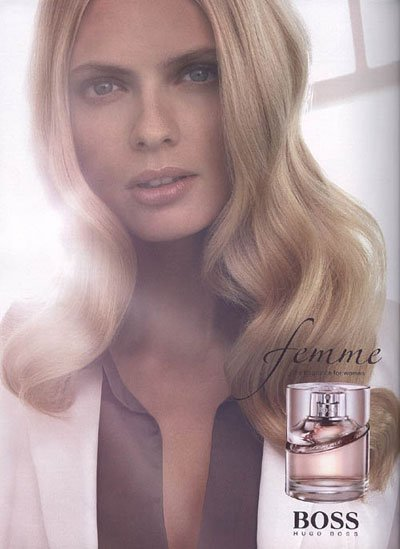 Julia Stegner - Photo: Femme fragrance for Hugo Boss, F/W08