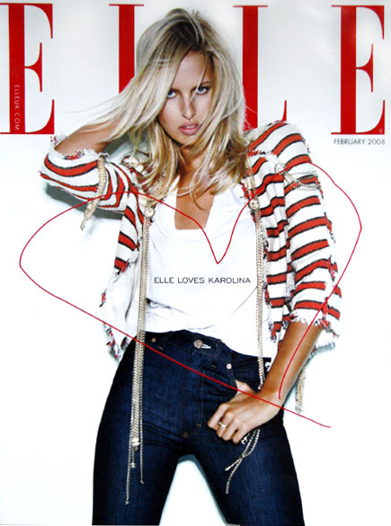 Karolina Kurkova - Photo: Mathias Vriens for UK Elle, Feb 08