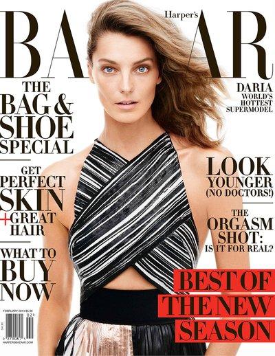 Daria Werbowy - Ph. Daniel Jackson for Harper's Bazaar