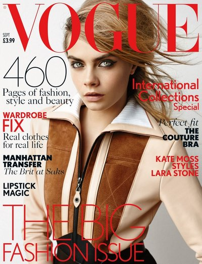 Cara Delevingne - Ph. Mario Testino for British Vogue